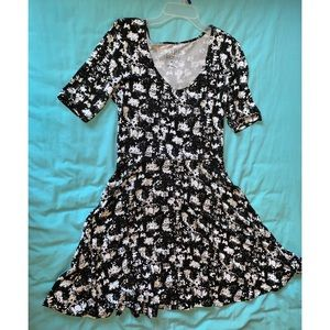 Black and White Fun Patterned Dress